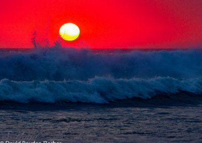 Deep red sunset, Kuta, Bali