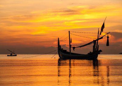Boat at sunrise, Sidodadi, East Java