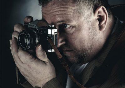 Photographer focusing