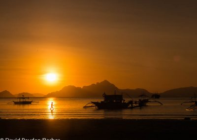 Sunset at El-Nido, Philippines.